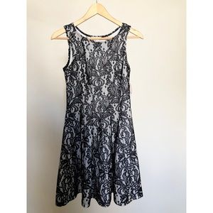 Dresses & Skirts - Black Lace Overlay Cocktail Dress, Small